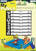 Grade 1 Math Worksheet - My punch