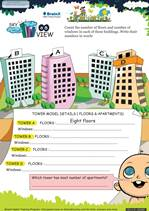 Grade 1 Math Worksheet - Sky View