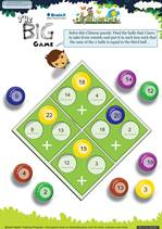 Grade 1 Math Worksheet - The Big Game