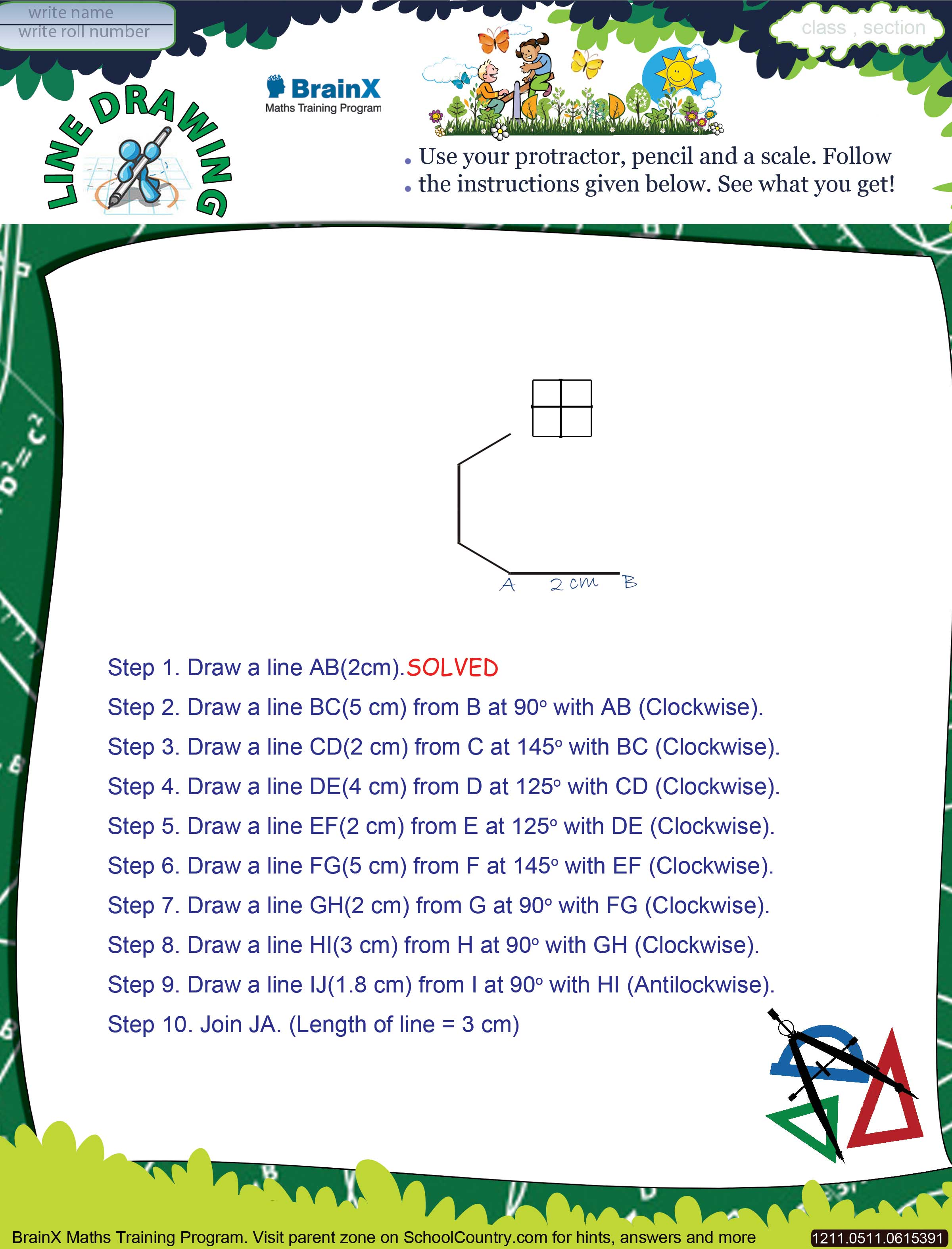 Printable Geometry Math Olympiad Worksheets for kids of Grade 5 ...