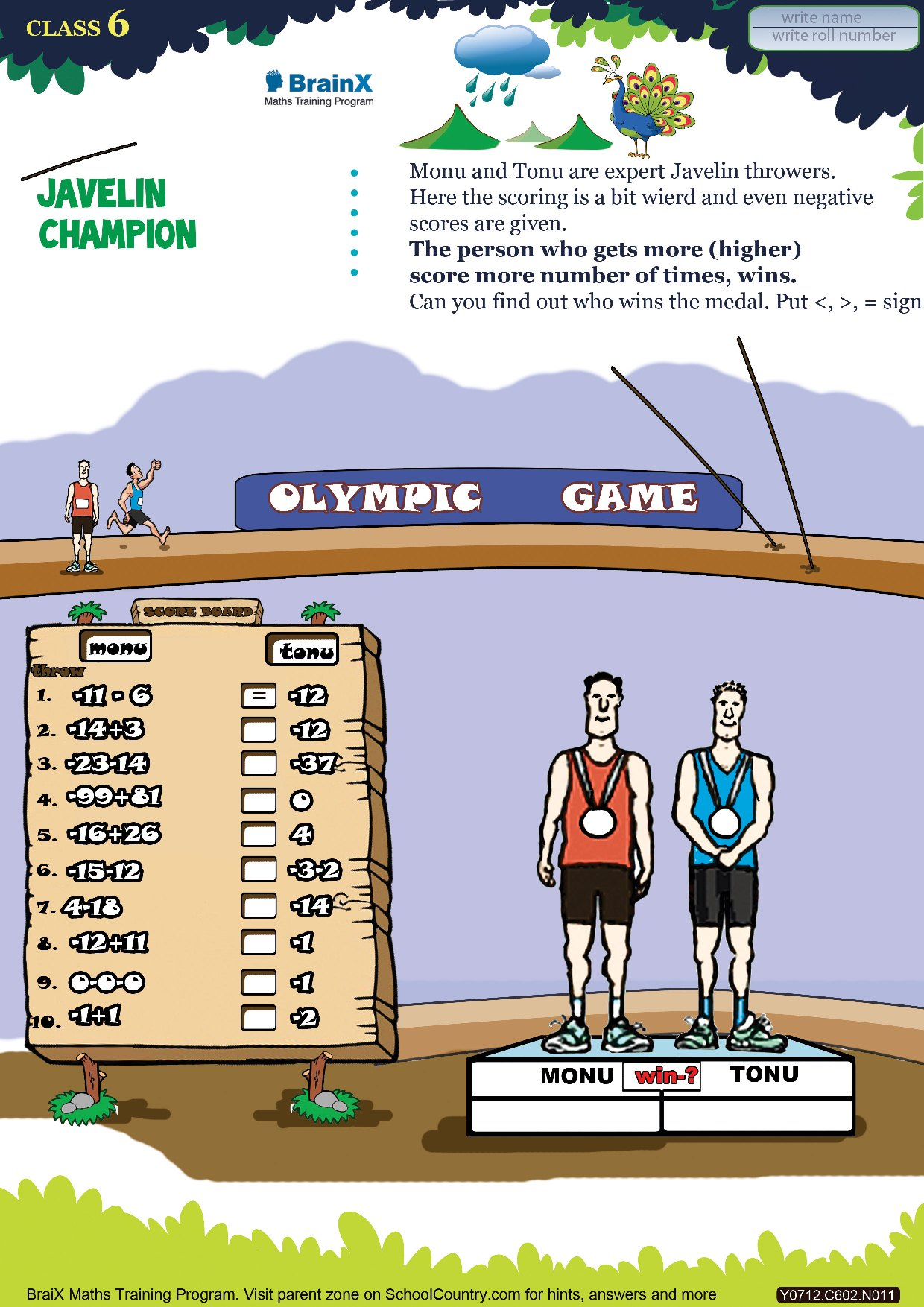 Printable Numbers Math olympiad Worksheet Javelin champion – Math Olympics Worksheets